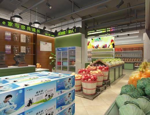 超市, 百货, 货架