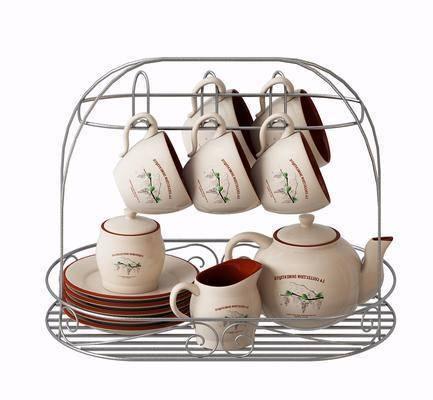 茶具, 茶几, 摆件, 北欧