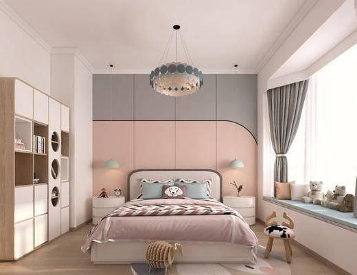 臥室, 家裝, 女孩房