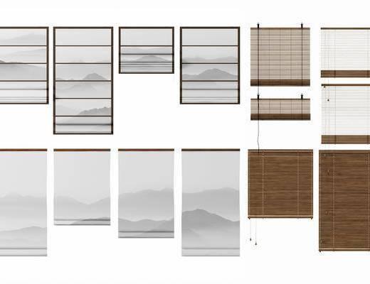 窗帘, 百叶帘, 新中式百叶帘, 新中式窗帘, 新中式