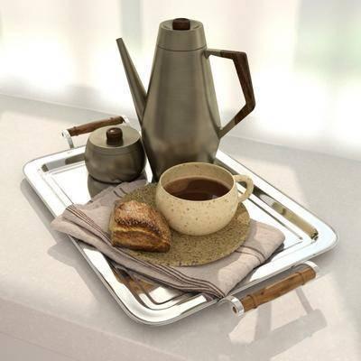 杯壶, 端盘, 食物, 现代
