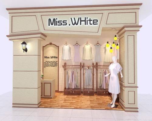 服装专卖店, 服饰, 门头, 简欧