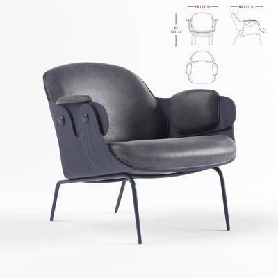 现代休闲沙发, 现代, 单椅, 椅子