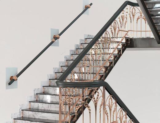 欧式, 金属护栏, 楼梯, 扶手护栏
