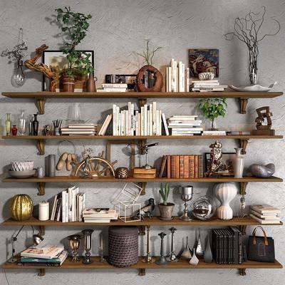 东南亚, 书籍, 盆栽, 摆件, 装饰品, 现代东南亚书籍盆栽摆件装饰品
