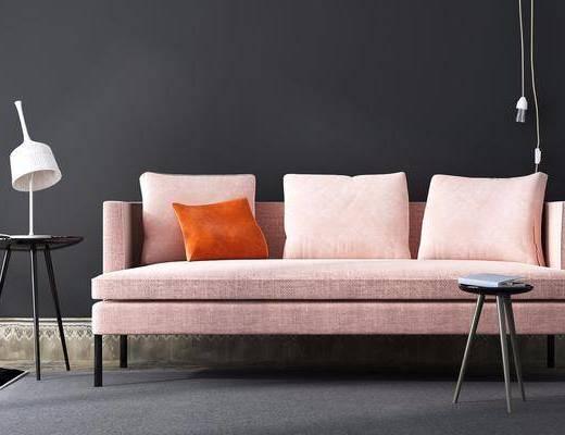 现代布质沙发茶几组合, 现代, 布艺沙发, 沙发, 茶几