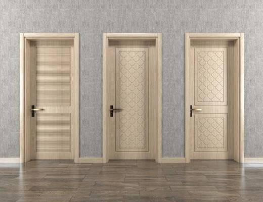 平开门, 单门, 现代, 简欧, 实木