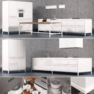 橱柜, 厨具, 茶几, 装饰柜, 现代