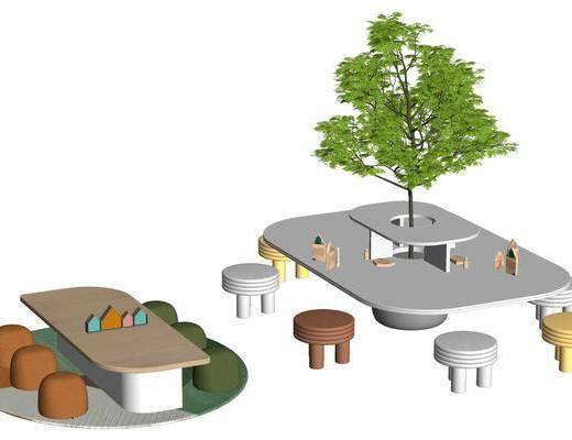 北欧, 阅览室, 座椅, 组合