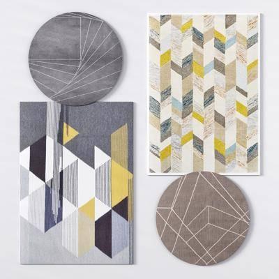 绒毛地毯, 方形地毯, 格仔地毯, 圆形地毯, 图案地毯, 现代