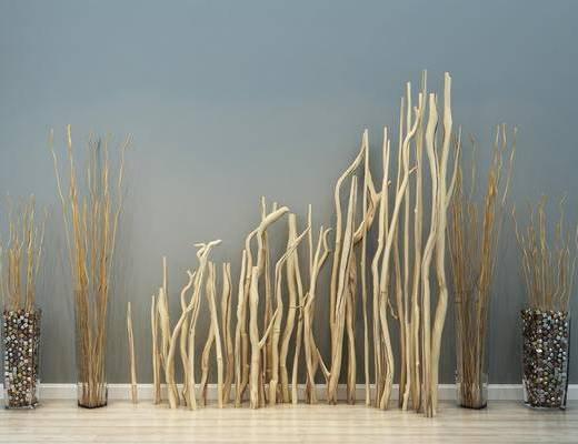 现代, 树枝, 干支, 树木, 摆件, 陈设品