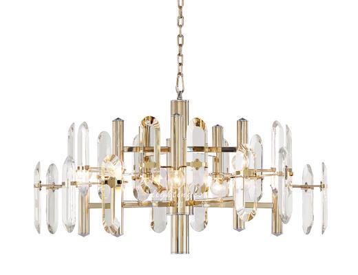 现代, 吊灯, 水晶吊灯, 灯具