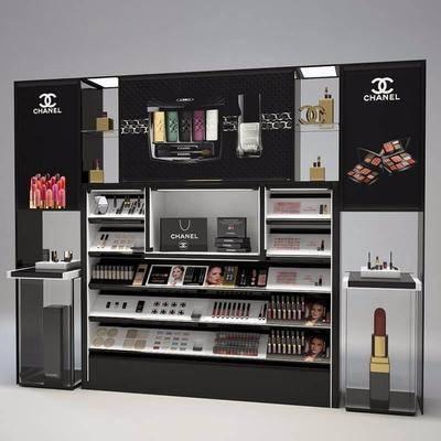 现代化妆品商场展柜, 现代, 化妆品, 彩妆, 商品架, 口红