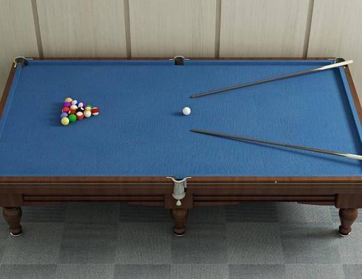 球杆, 球桌, 台球, 现代