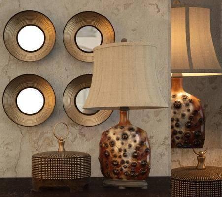 现代台灯装饰灯摆件挂件组合, 现代, 台灯, 装饰品