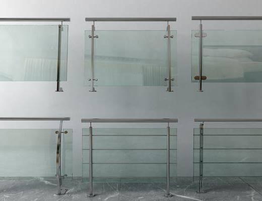 玻璃, 栏杆