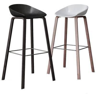现代简易吧台椅