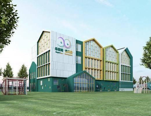 幼儿园, 建筑, 学习
