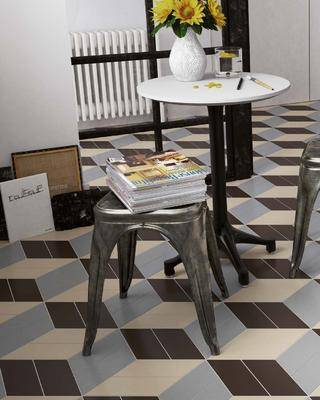 拼花, 贴砖, 单椅, 地板砖