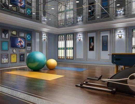 瑜伽室, 瑜伽, 瑜伽球, 壁灯, 墙饰, 装饰画