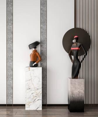 现代人物雕塑, 摆件