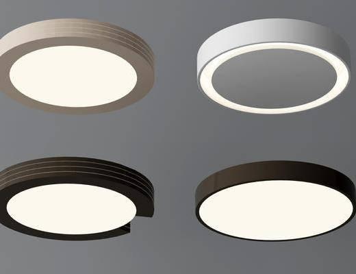 圆形吸顶灯, 现代, 吸顶灯