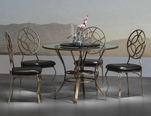 工业风, 休闲桌, 单椅