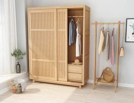 衣柜, 衣架, 服饰, 摆件, 装饰品, 陈设品, 北欧