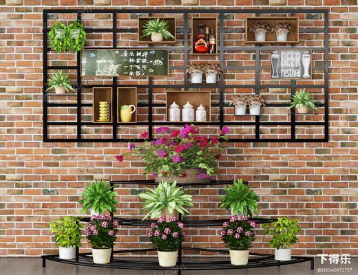 盆栽, 植物, 花盆, 花架, 绿植