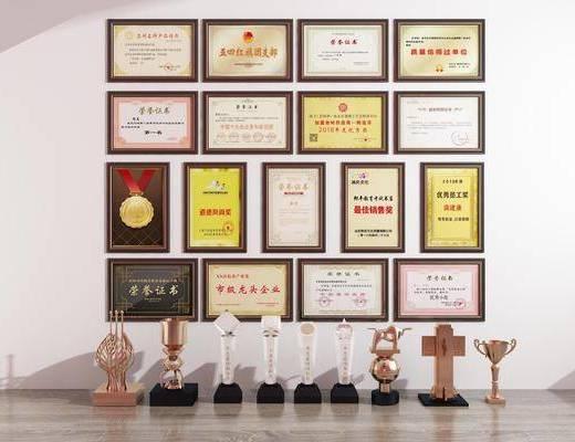 獎杯獎牌, 榮譽證書, 現代
