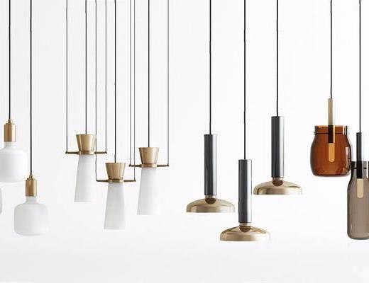 现代简约, 吊灯组合, 现代吊灯, 吊灯