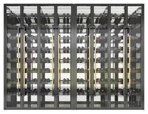 现代, 装饰柜, 酒柜, 柜架, 组合