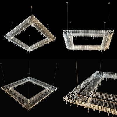 吊灯, 水晶, 水晶吊灯, 现代, 照明