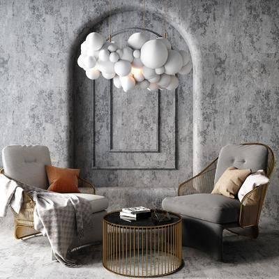 现代休闲椅, 现代单椅, 现代椅子