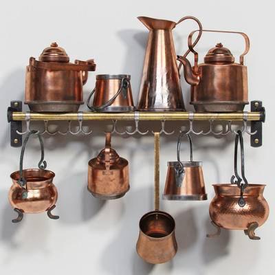 厨房, 厨具, 水壶, 置物架, 茶壶, 现代, 后现代