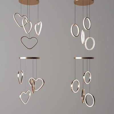 现代吊灯, 吊灯组合, 金属吊灯, 艺术吊灯, 创意吊灯