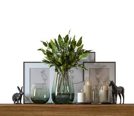 摆件组合, 花瓶, 装饰品