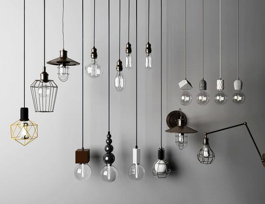北欧简约, 吊灯组合, 灯具组合