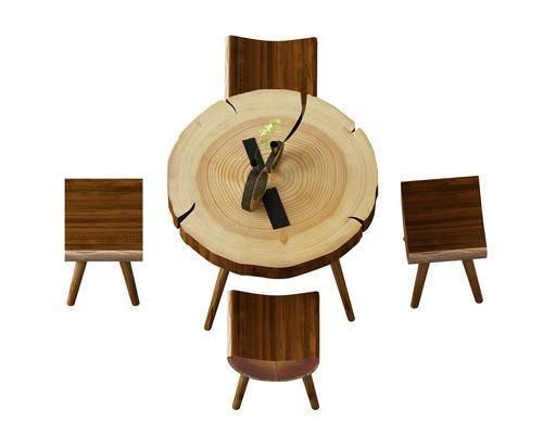 桌子, 单人椅, 中式