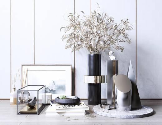 装饰品, 摆件组合, 盆栽, 植物