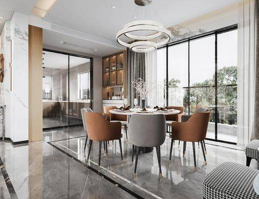 现代, 轻奢, 餐厅, 厨房, 家装