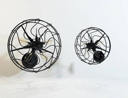 工业风, 电风扇, 单体