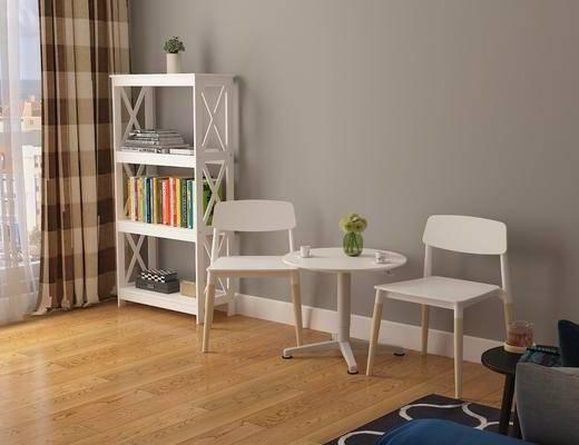 现代桌椅组合, 桌椅组合, 椅子, 单椅, 茶几, 边柜, 置物柜