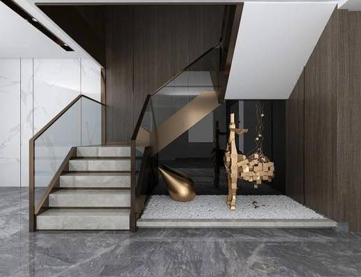 楼梯间, 楼梯, 角落
