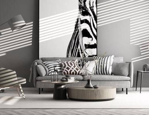 现代沙发茶几, 现代, 沙发, 茶几, 花瓶, 椅子