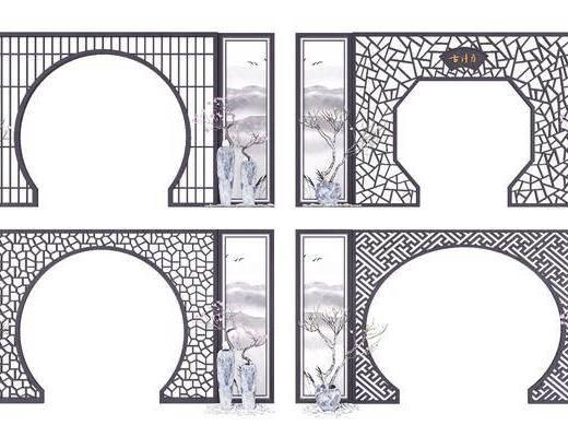 门拱, 隔断, 新中式门拱