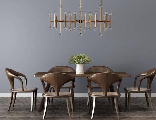 现代餐桌, 单椅