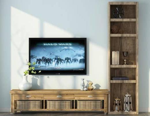 电视柜, 装饰柜, 边柜, 摆件, 装饰品, 陈设品, 北欧