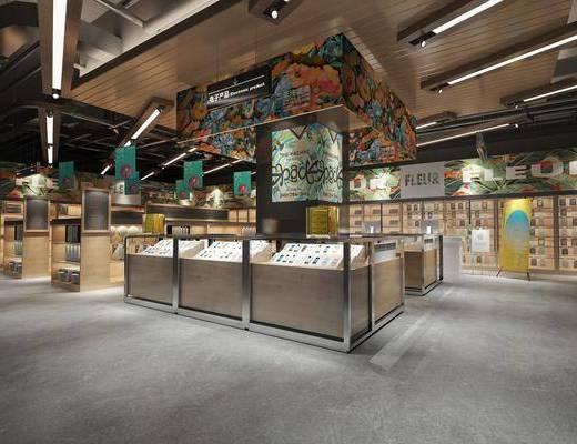 电子产品展柜, 展示区