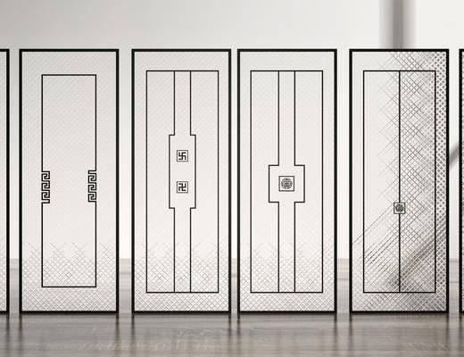 隔断, 屏风, 玻璃隔断, 新中式隔断